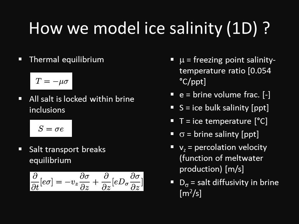 How we model ice salinity (1D) .