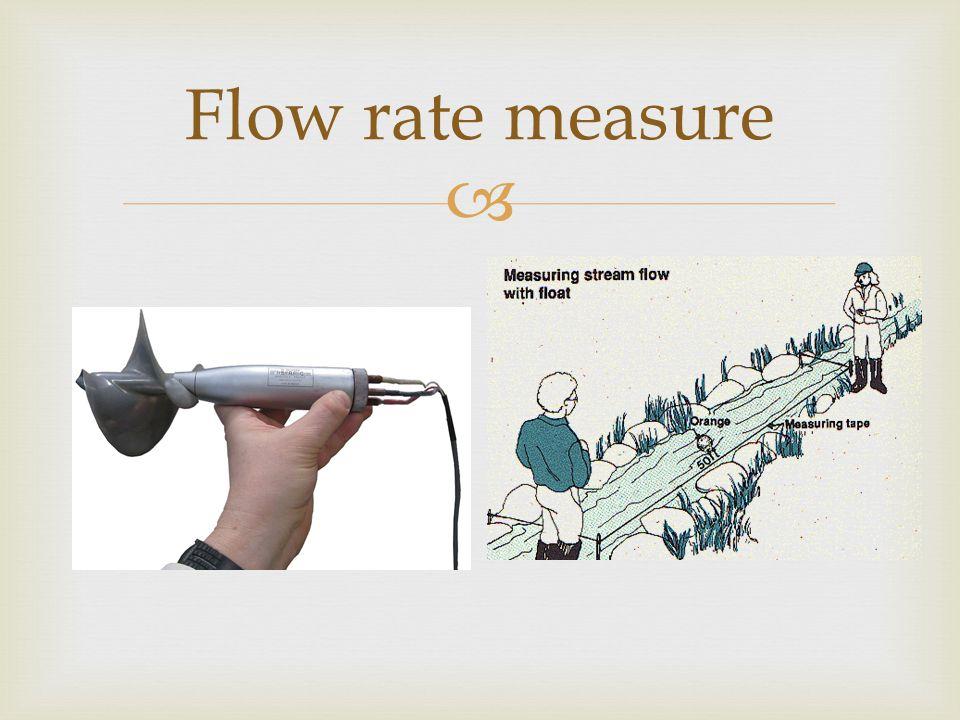  Flow rate measure