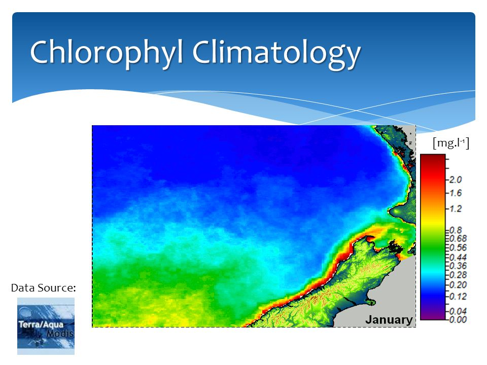 Chlorophyl Climatology Data Source: [mg.l -1 ]