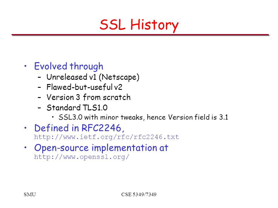 SMUCSE 5349/7349 Record Protocol Operation