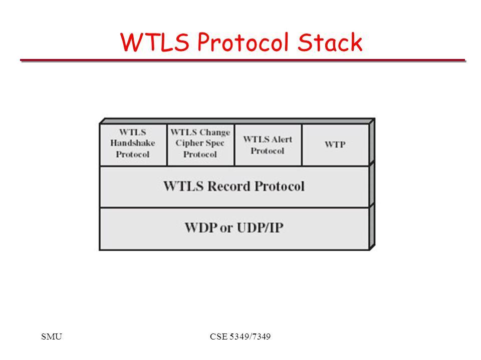SMUCSE 5349/7349 WTLS Protocol Stack