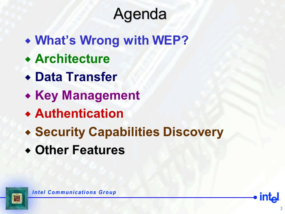 74 802.11i Summary  New 802.11i data protocols provide confidentiality, data origin authenticity, replay protection  These protocols require fresh key on every session  Key management delivers keys used as authorization tokens, proving channel access is authorized  Architecture ties keys to authentication