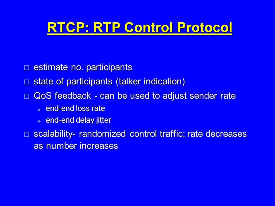 RTCP: RTP Control Protocol  estimate no.