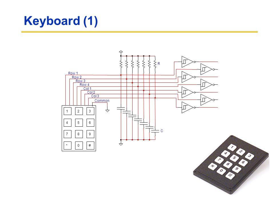 Keyboard (1) 123 456 789 0#* Common Row 2 Row 4 Col 1 Col 2 Col 3 Row 1 Row 3 R C