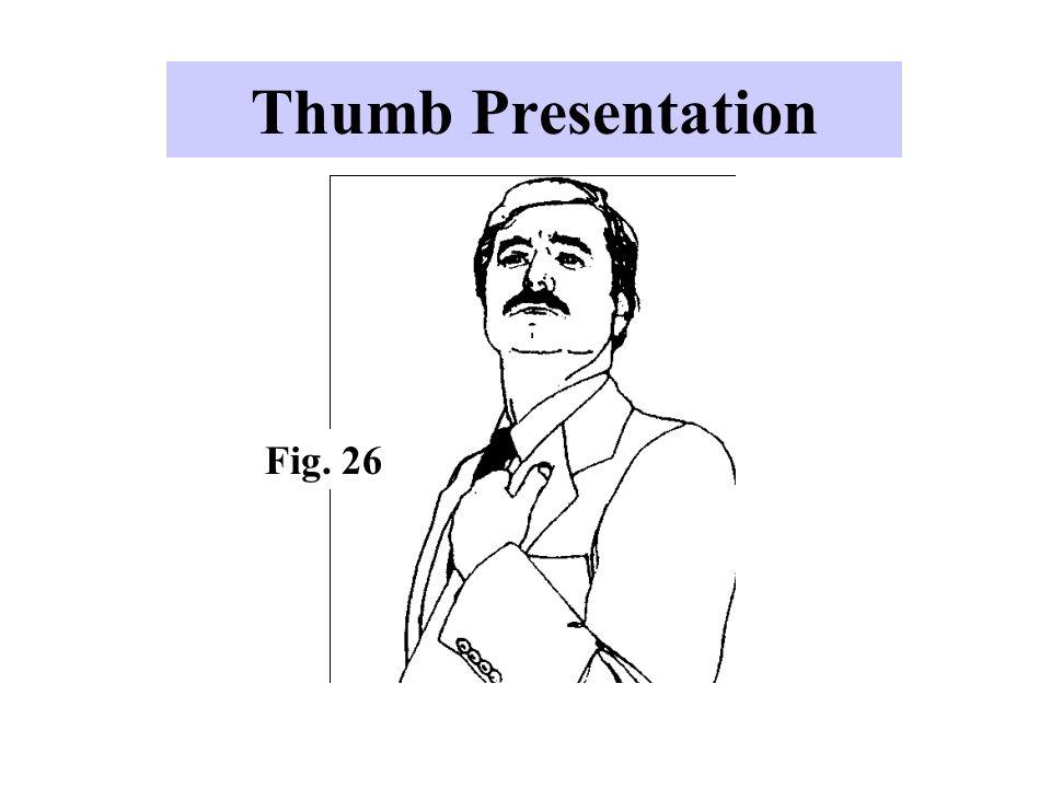 Thumb Presentation Fig. 26