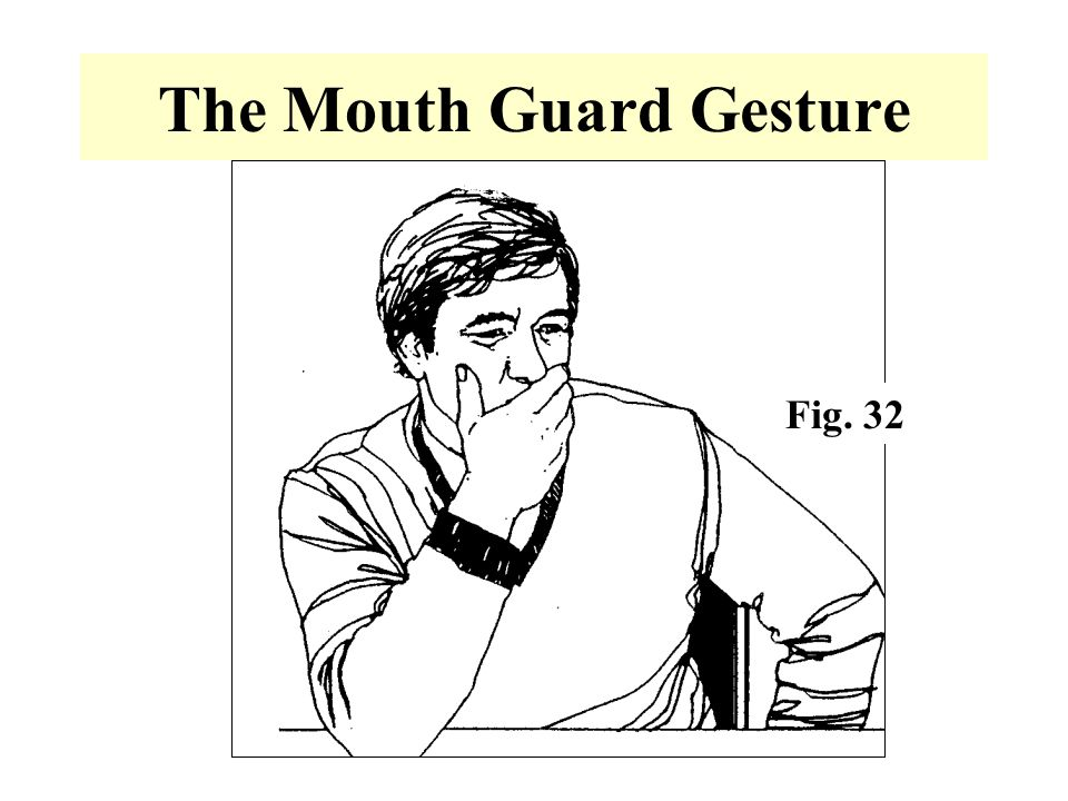 The Mouth Guard Gesture Fig. 32