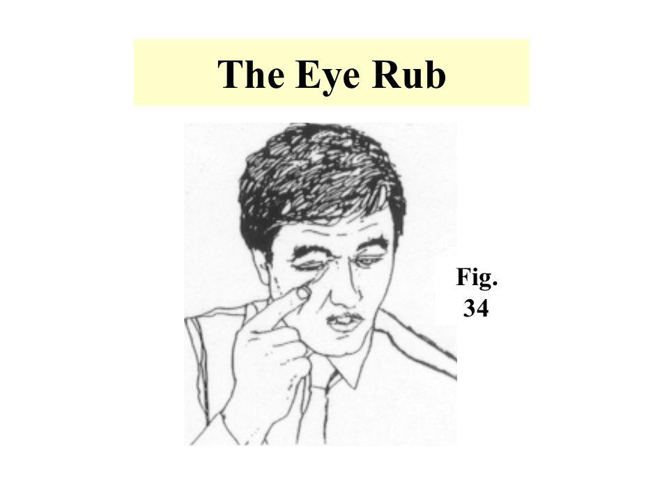 The Eye Rub Fig. 34