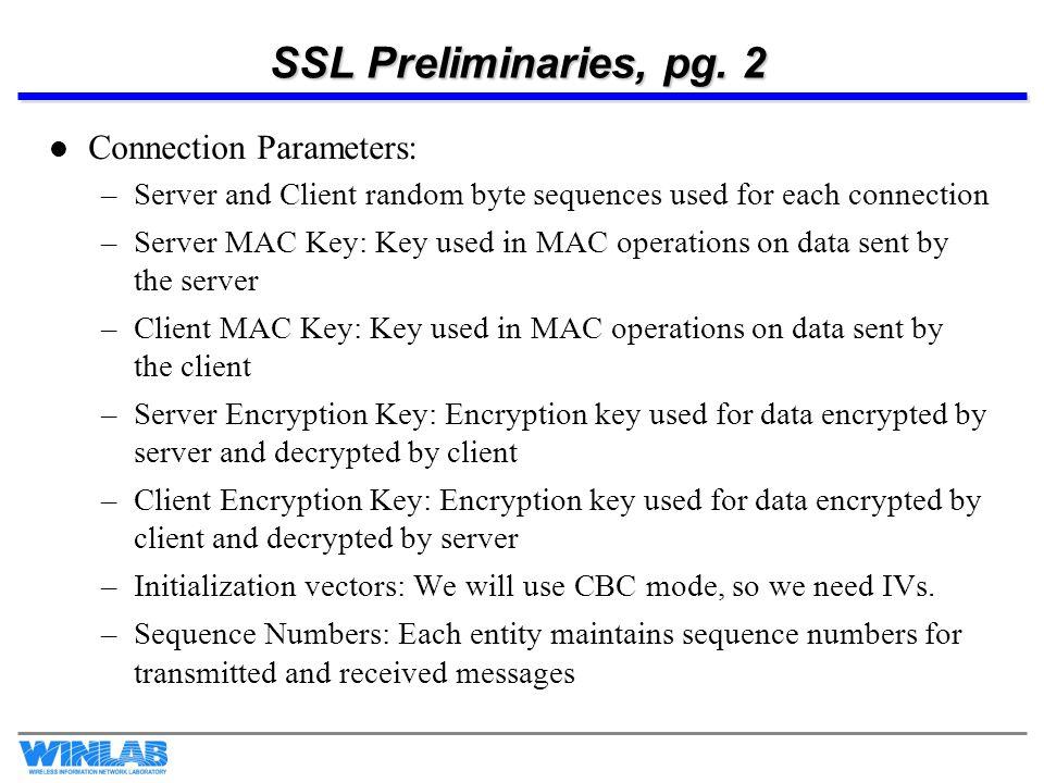 SSL Preliminaries, pg.