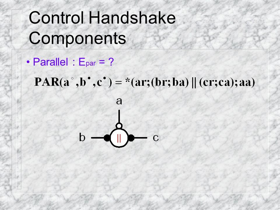 Control Handshake Components Parallel : E par = ?
