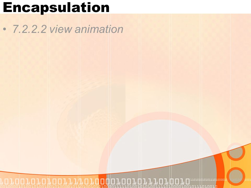 Encapsulation 7.2.2.2 view animation