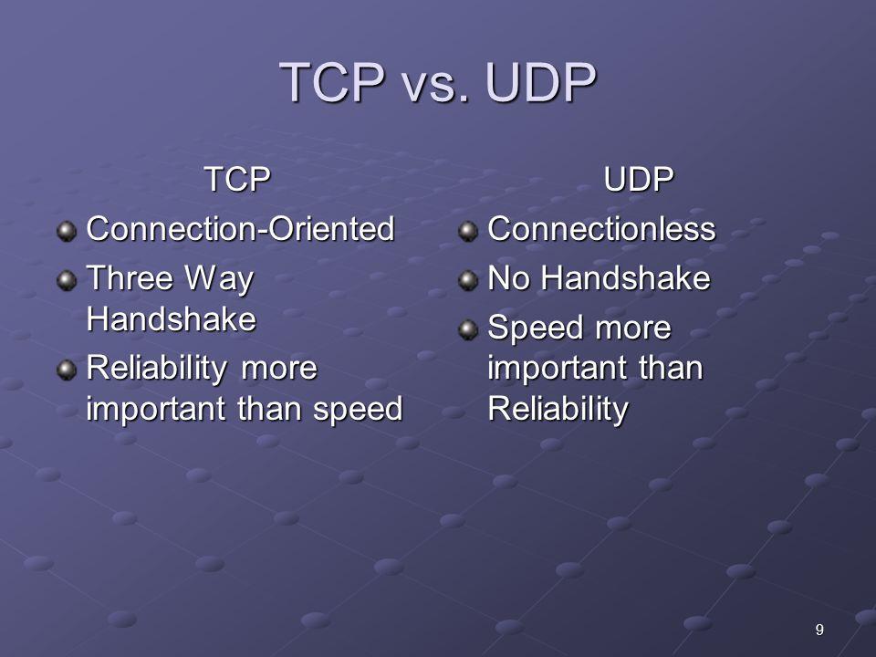 9 TCP vs.