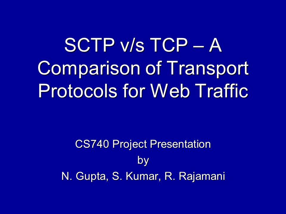 Outline Motivation Introduction to SCTP Server Architecture Experimental Design ParametersResultsConclusion