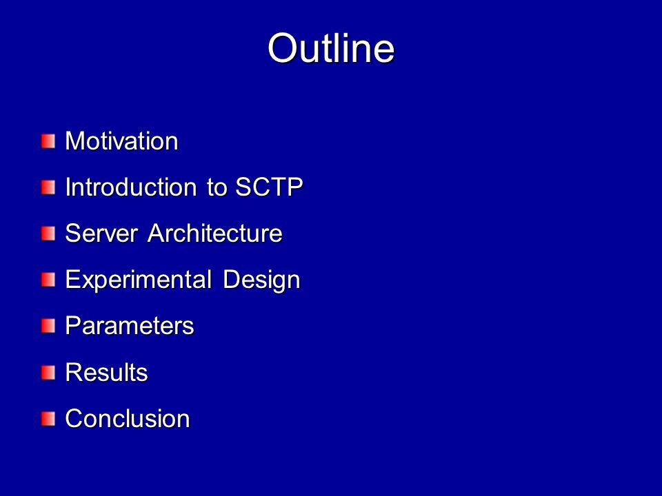 Motivation Many applications need reliable message delivery – they do so by delineating a TCP stream TCP provides both strict-ordering and reliability – many applications may not need both