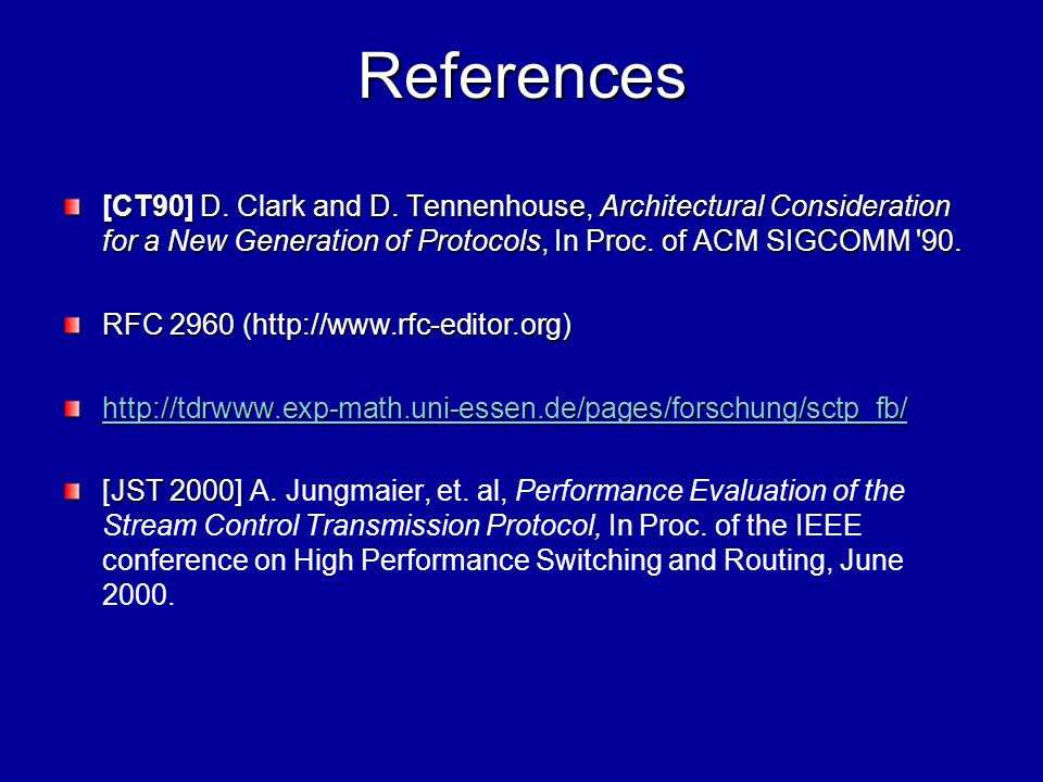 References [CT90] D. Clark and D.