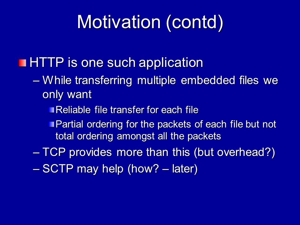 What is SCTP.