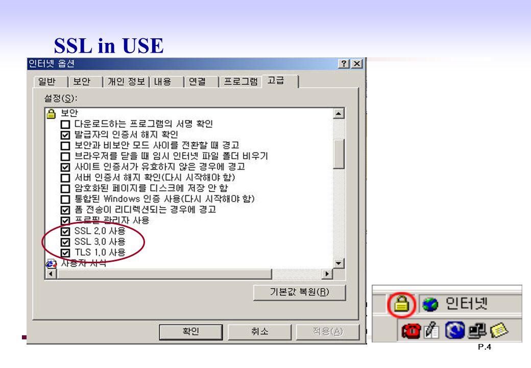 P.4 SSL in USE