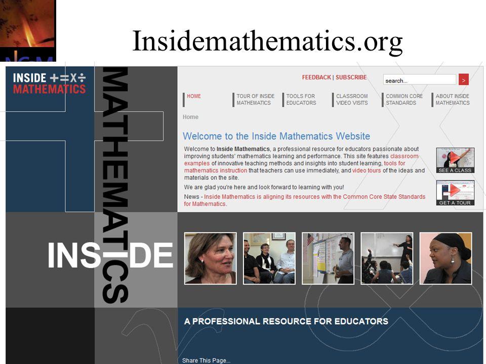 Briars, June 2011 Insidemathematics.org