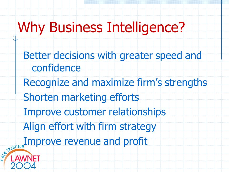 Why Business Intelligence.