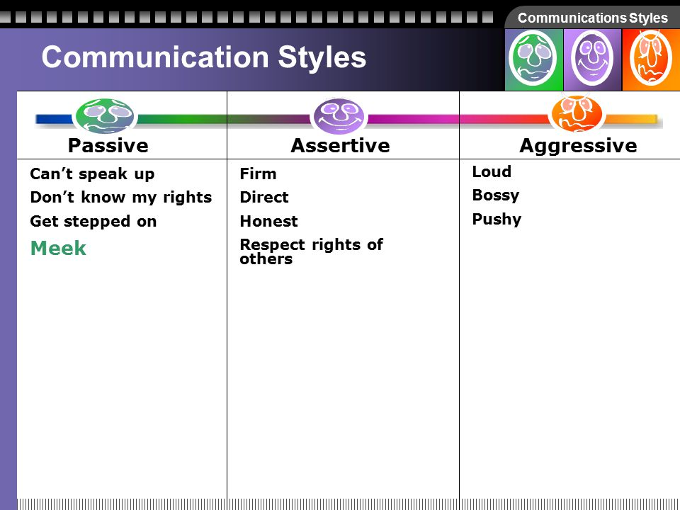 Communications Styles How about… Meek