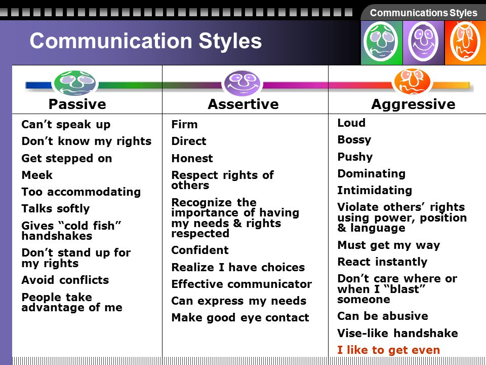 Communications Styles How about… I like to get even