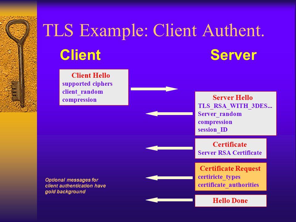 TLS Example: Client Authent.