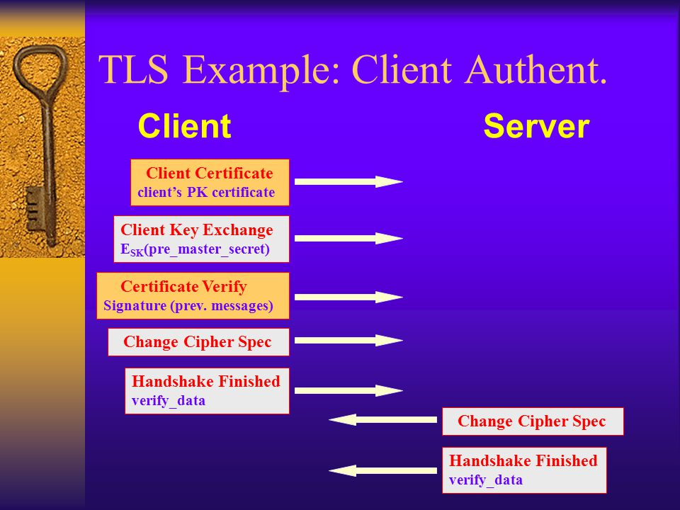 TLS Example: Client Authent.