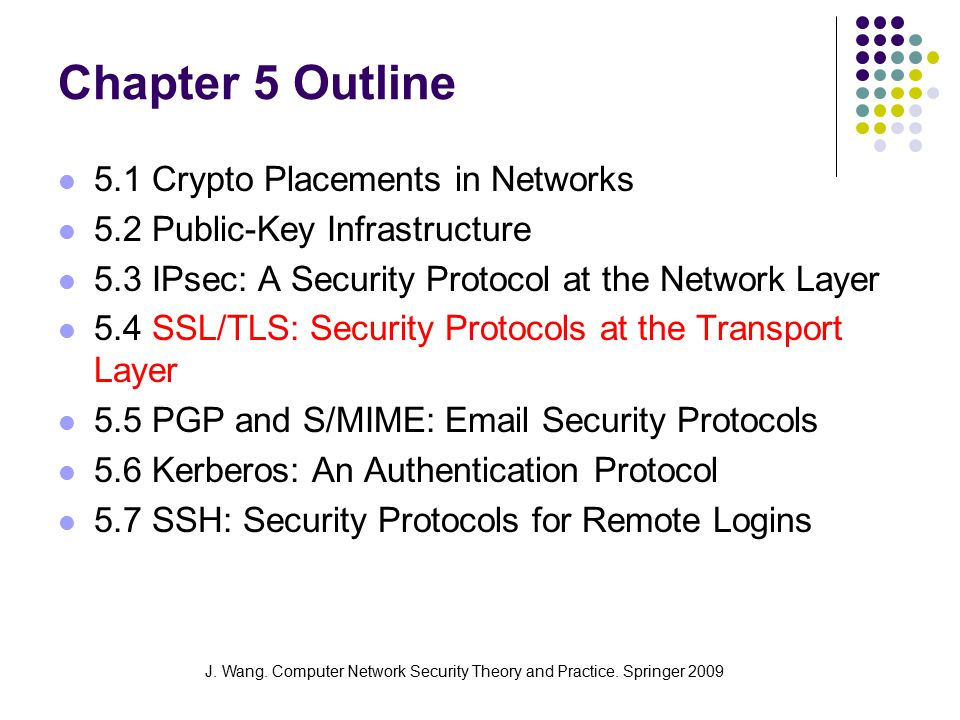 J.Wang. Computer Network Security Theory and Practice.