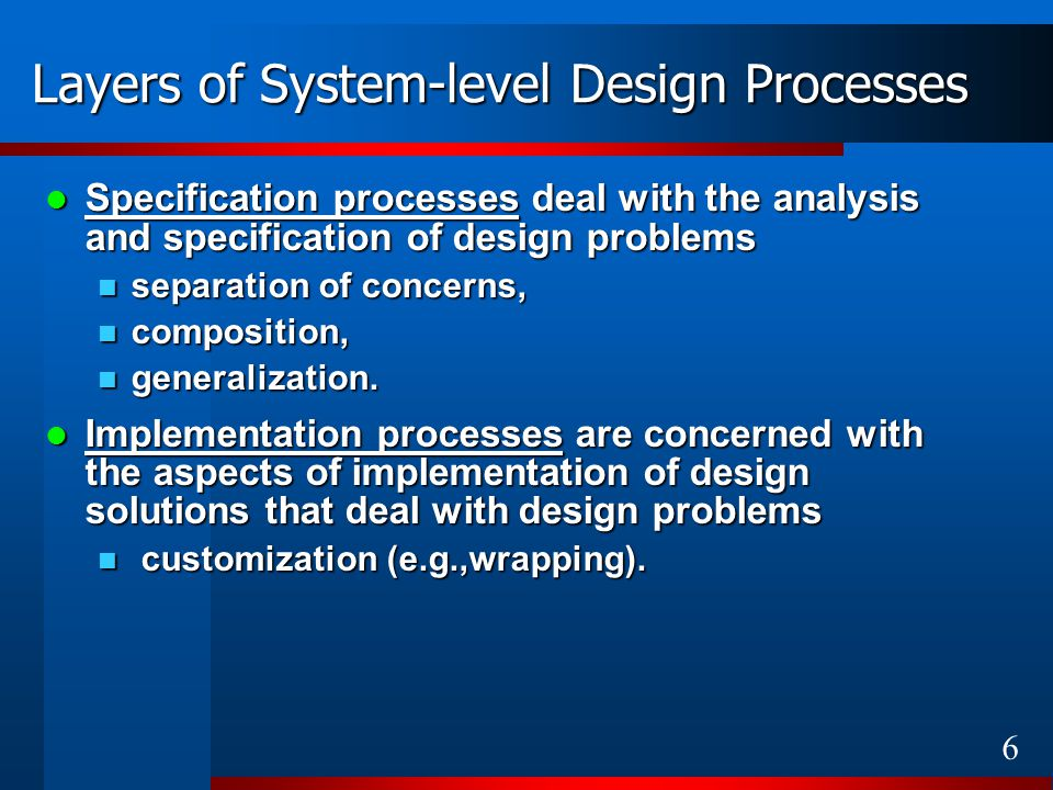 27 Problems yet to be solved How the System-level design processes described using the UML-based HW design patterns could be (semi-) automatically transformed into metaprograms.