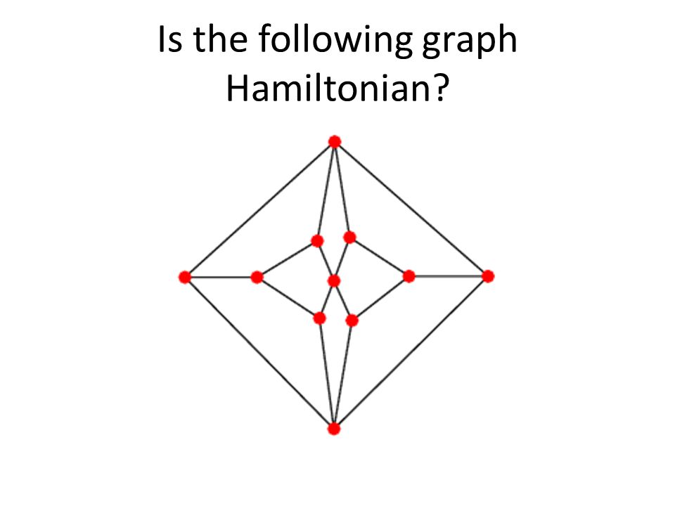 Is the following graph Hamiltonian