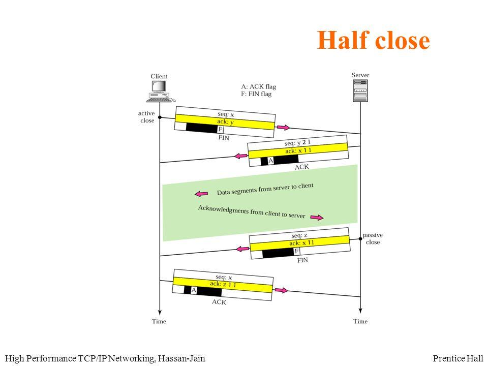 Prentice HallHigh Performance TCP/IP Networking, Hassan-Jain Half close