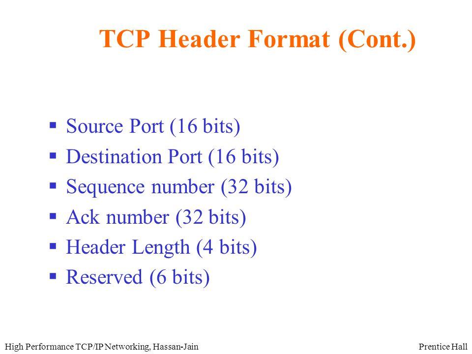 Prentice HallHigh Performance TCP/IP Networking, Hassan-Jain IP