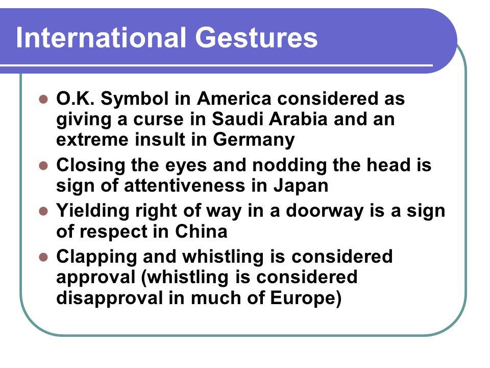 International Gestures O.K.
