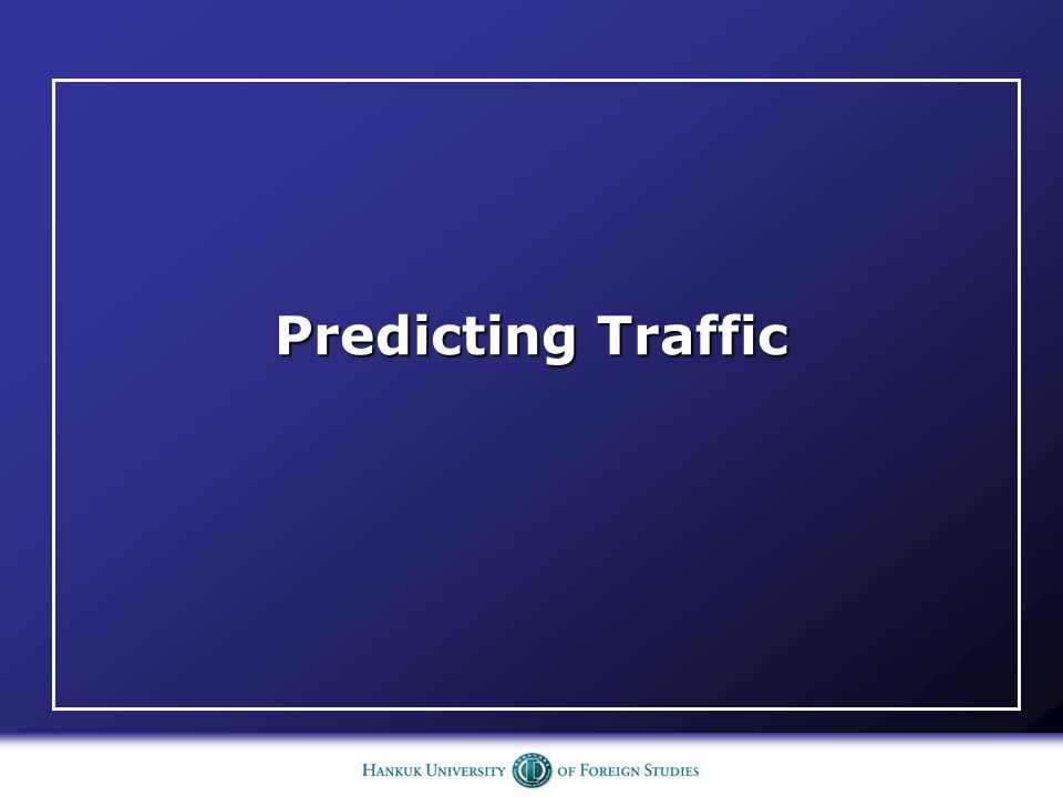 Predicting Traffic