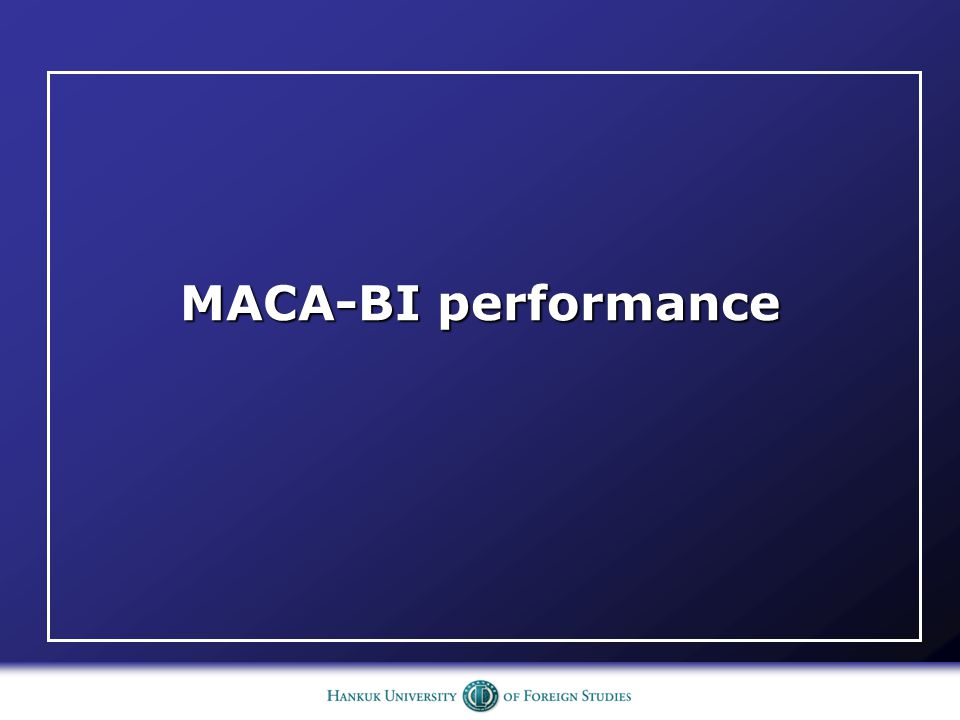MACA-BI performance