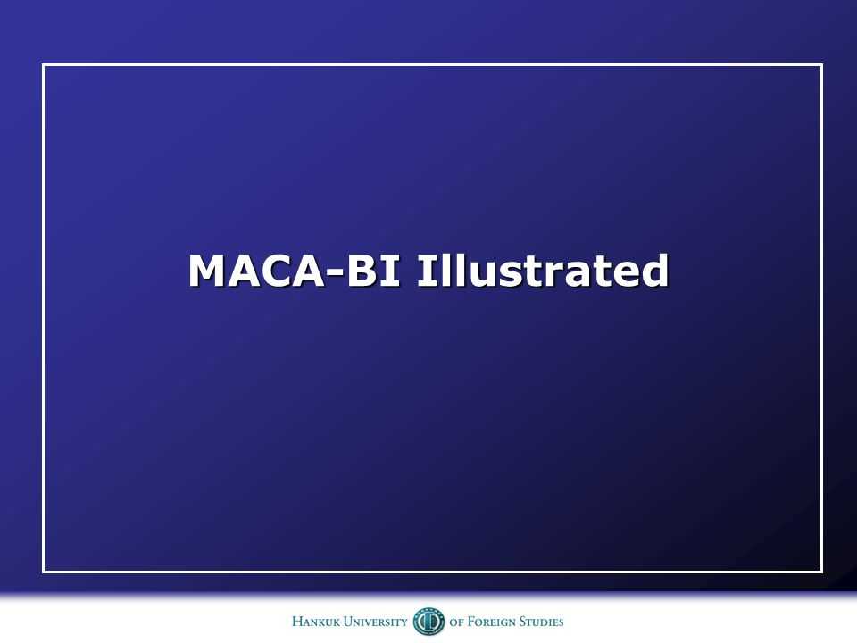 MACA-BI Illustrated