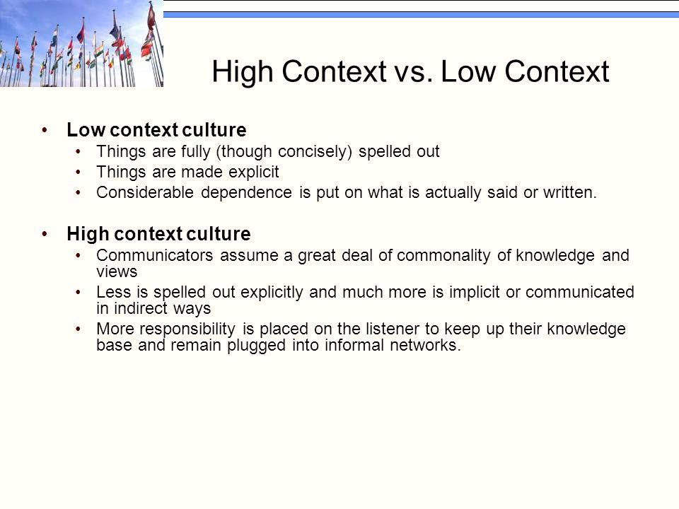 High Context vs.