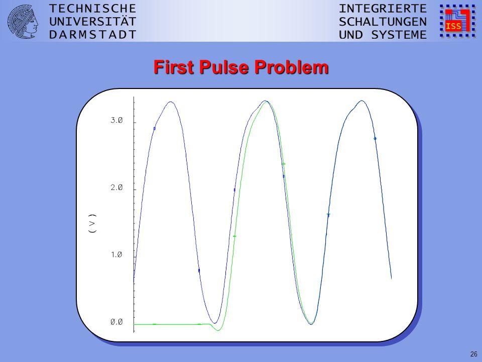26 First Pulse Problem