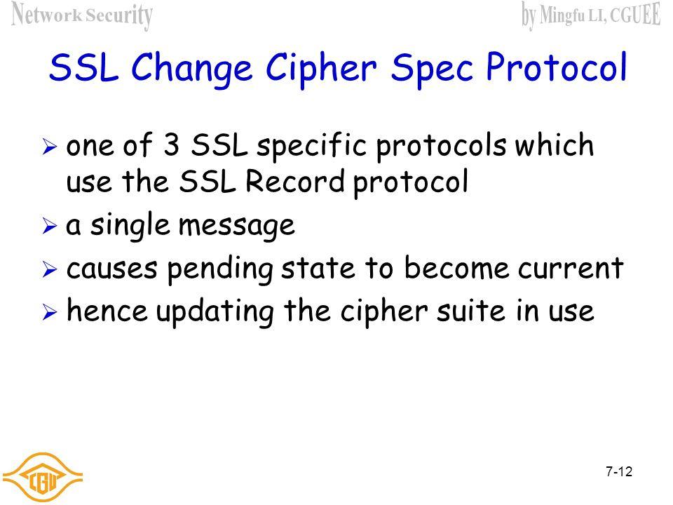 7-11 SSL Record Protocol Payload