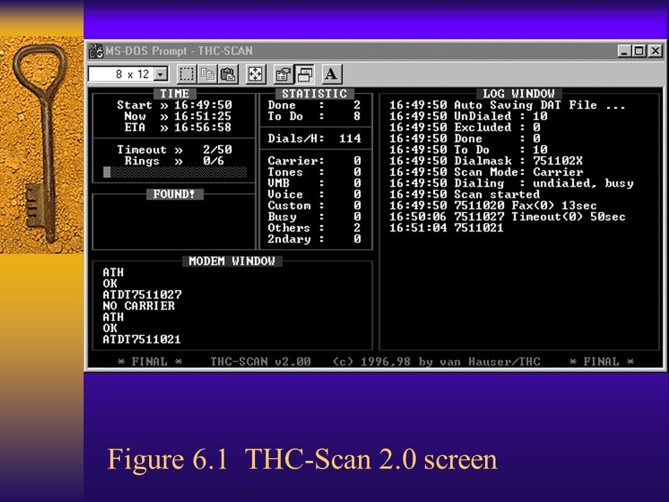 Demon Dialer  Tool used to attack just one telephone number with a modem by guessing passwords  THC LoginHacker available at http://thc.inferno.tusculum.edu http://thc.inferno.tusculum.edu