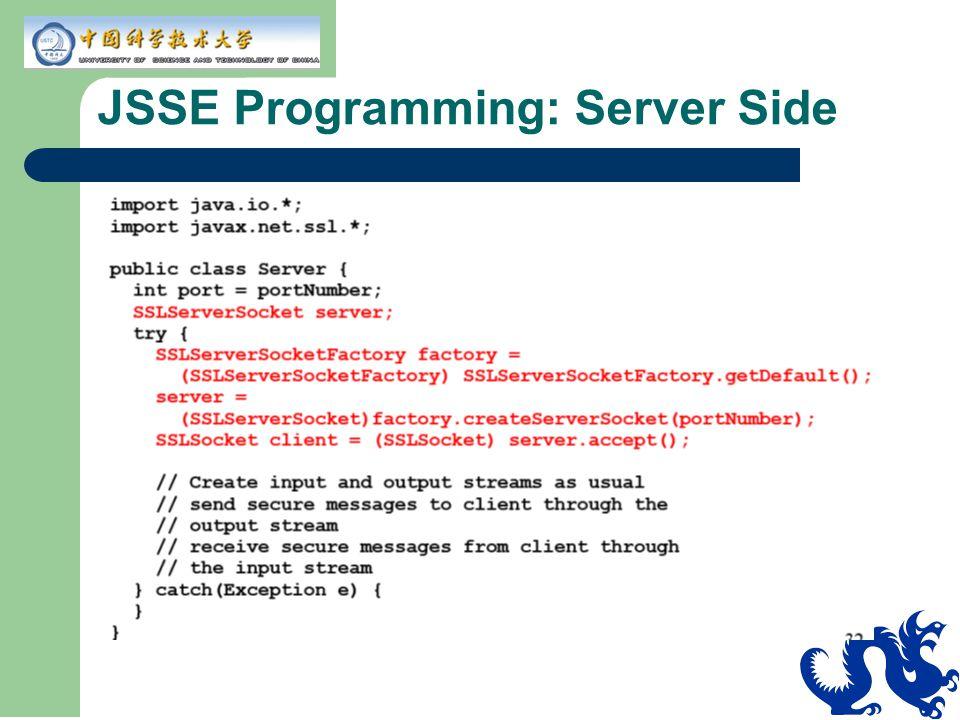 JSSE Programming: Server Side