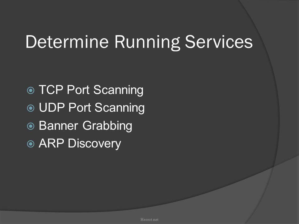 Determine Running Services amap Demonstration