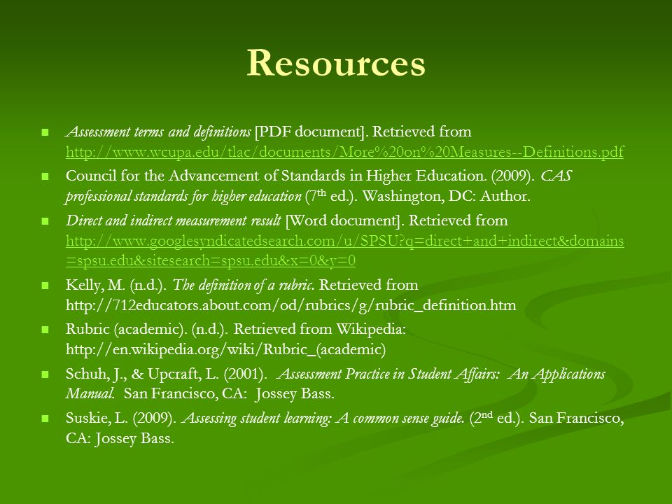 Resources Assessment terms and definitions [PDF document].