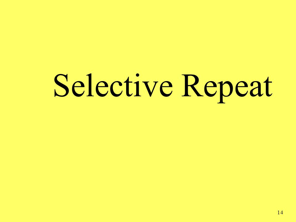 14 Selective Repeat