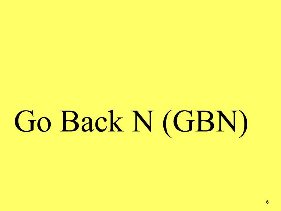 6 Go Back N (GBN)