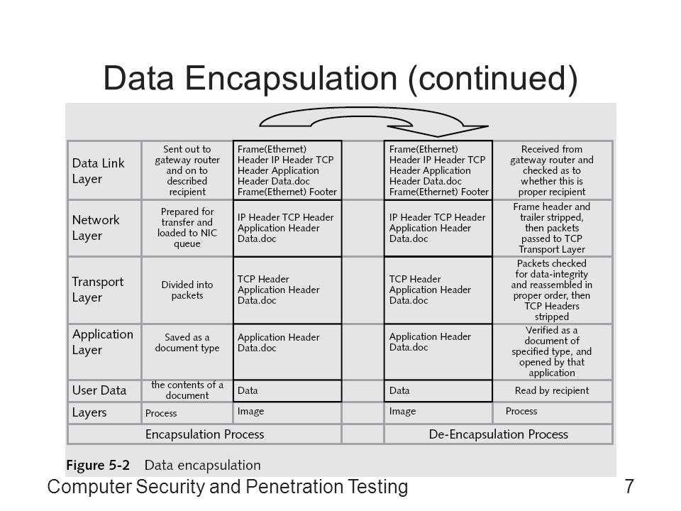Computer Security and Penetration Testing7 Data Encapsulation (continued)