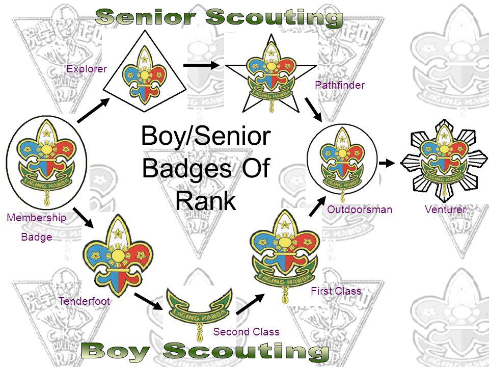 Membership Badge Explorer Pathfinder Tenderfoot Second Class First Class OutdoorsmanVenturer Boy/Senior Badges Of Rank