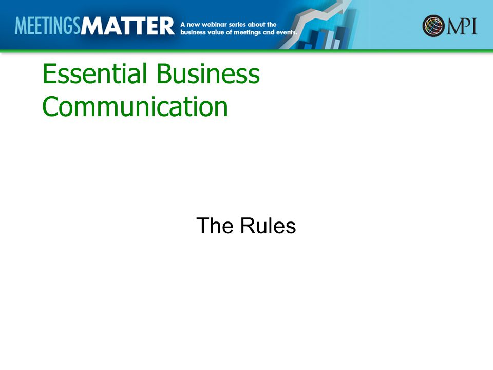 Essential Business Communication The Rules