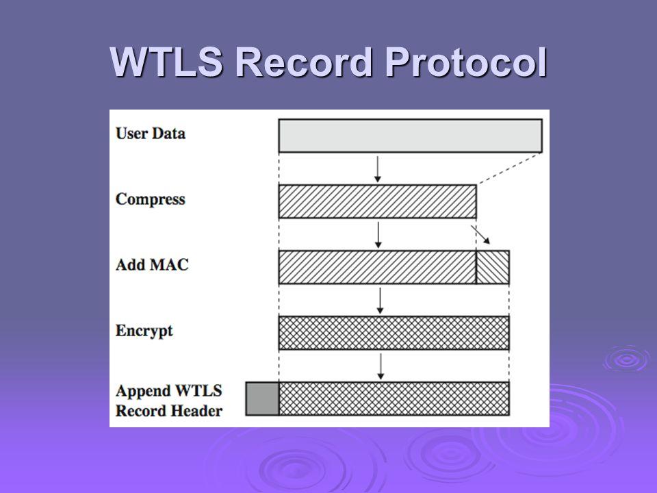 WTLS Record Protocol