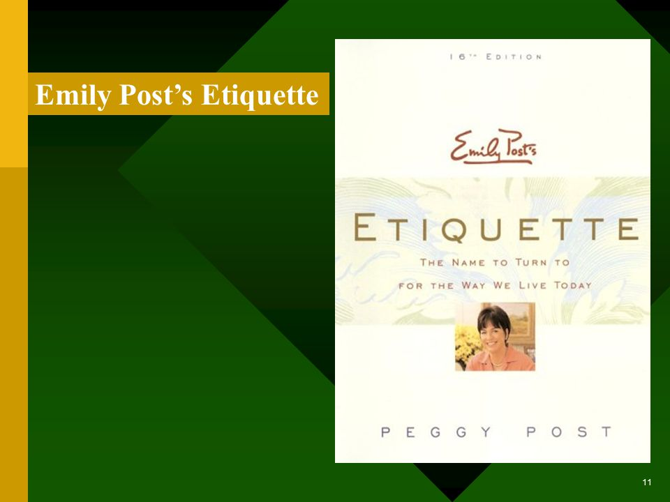 Basic Guidelines for Business Etiquette The references that follow offer different insights on business etiquette.