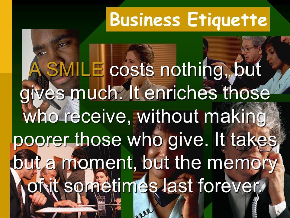 Business Etiquette for Dummies 13